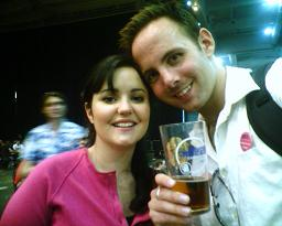 With Cas at the Beerfest