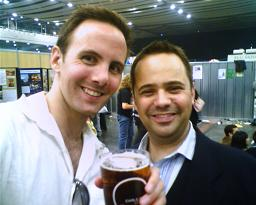 With Lee at the Beerfest