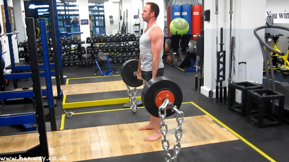175kg on the Bar + 40kg chains = 215kg Peak Load