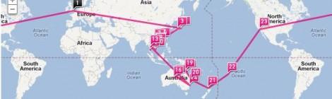 Around the world in 58 days!